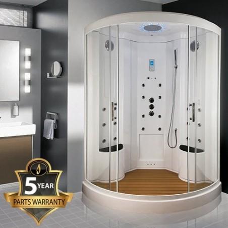Cabina dus cu hidromasaj si sauna umeda model INS9000 135 x 135 cm
