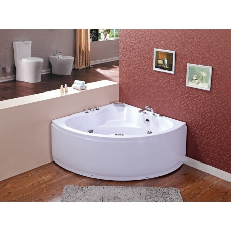 Cada baie cu hidromasaj si aeromasaj model Coro 135 x 135 cm