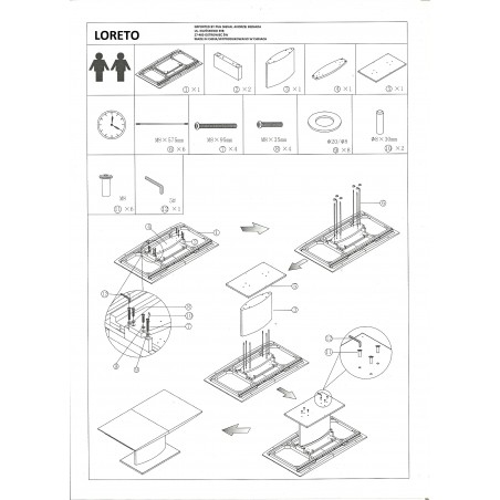 Masa bucatarie / living extensibila model LORETO