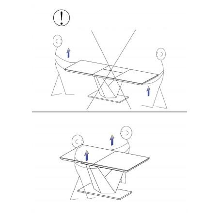 Masa bucatarie / living extensibila model Alaras Sonoma 220 cm