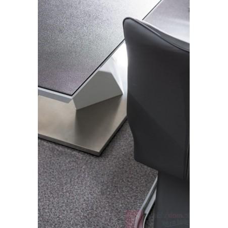 Masa bucatarie / living extensibila model Alaras II 220 cm alb - grafit