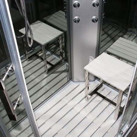 Cabina dus cu hidromasaj 120 x 80 cm model INS9002 R