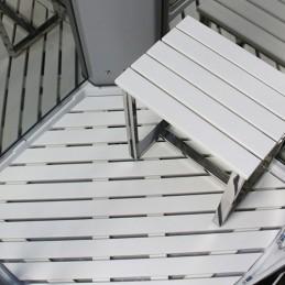 Cabina dus cu hidromasaj si sauna model PL10-QCF-TG-S 100 x 100 cm