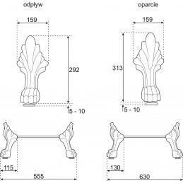 Picioare CH cromate pentru cada Empire