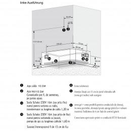 Cada cu cabina dus integrata model LC-8050 SW 170 x 98 cm
