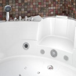 Cada baie cu hidromasaj si aeromasaj model Elena 152 x 152 cm