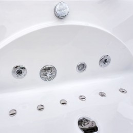 Cada baie acril cu hidromasaj si aeromasaj model Emma1821 180x90 cm