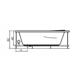 Cada baie cu hidromasaj 140 x 90 cm model Ana
