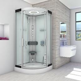 Cabina dus cu hidromasaj si sauna umeda 90x90 cm model CATA8058-5003 WS