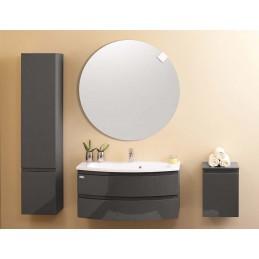 Set Iman 80 cm lavoar alb + mobilier cu sertare, antracit