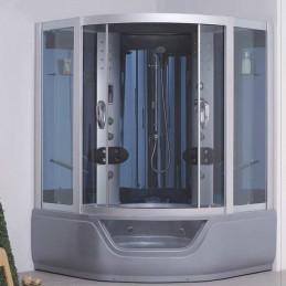 Cabina dus cu hidromasaj si sauna umeda model LC-037 150x150 cm