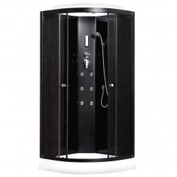 Cabina hidromasaj 90 x 90 cm cu sticla neagra