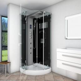 Cabina dus cu hidromasaj si sauna umeda model CATA6037-2303 SW 100 x 100 cm