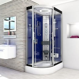 Cabina dus cu hidromasaj si sauna umeda model CATA8060-7203L 120 x 80 cm