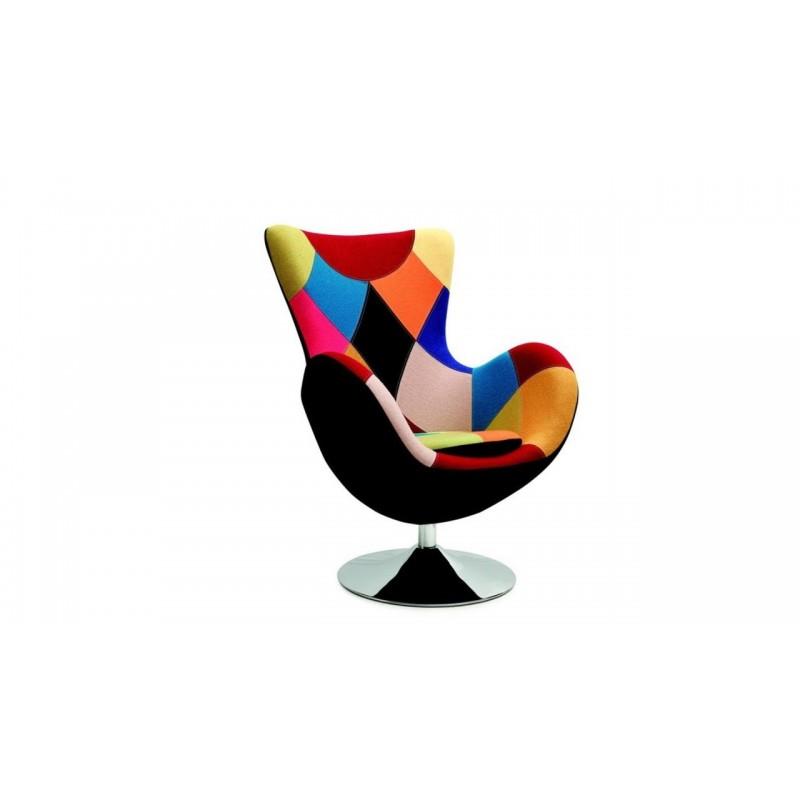 Fotoliu modern multicolor Butterfly