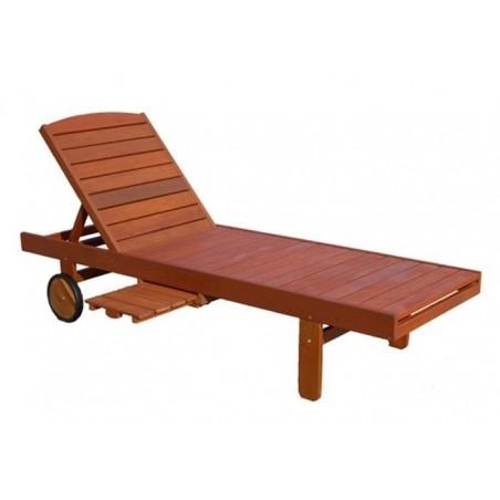 Sezlong din lemn exotic pentru gradina