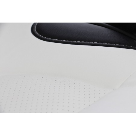 Scaun directorial US25 alb cu negru