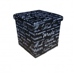 Taburet pliabil Design negru