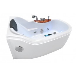 Cada baie cu hidromasaj model BELLA LUX STANGA 144 x 80 cm