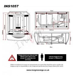 Cabina dus cu hidromasaj si sauna model  INS1057 Brampton