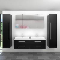 Mobilier pentru baie din mdf, pal si lemn masiv